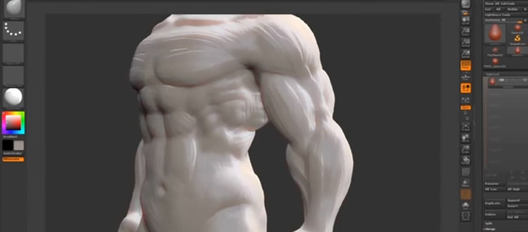 Human sculpt example