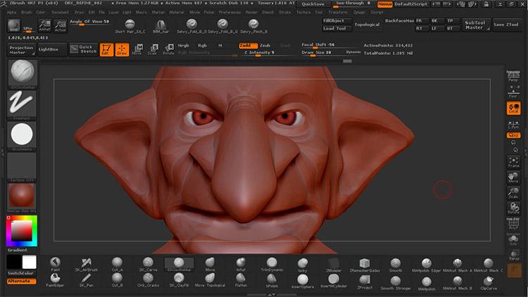 Goblin creature sculpt