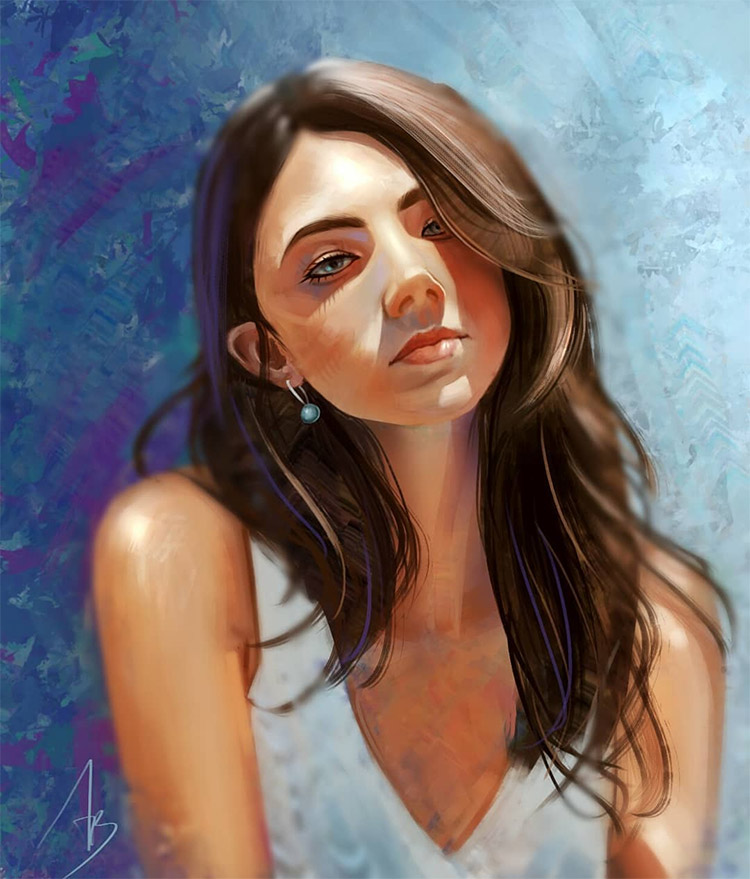 @trungbui42 digital portrait color study