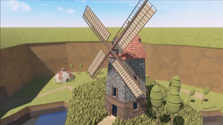 3D windmill environment design