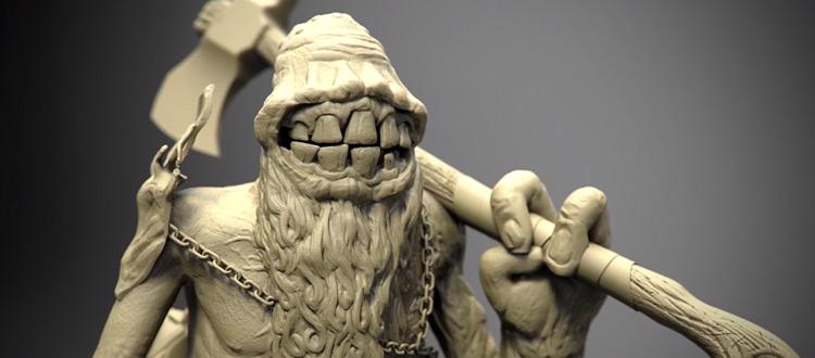 3D sculpted character