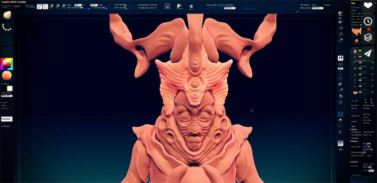 ZBrush the observer character sculpt