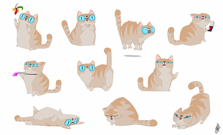 Cat characters custom vis dev