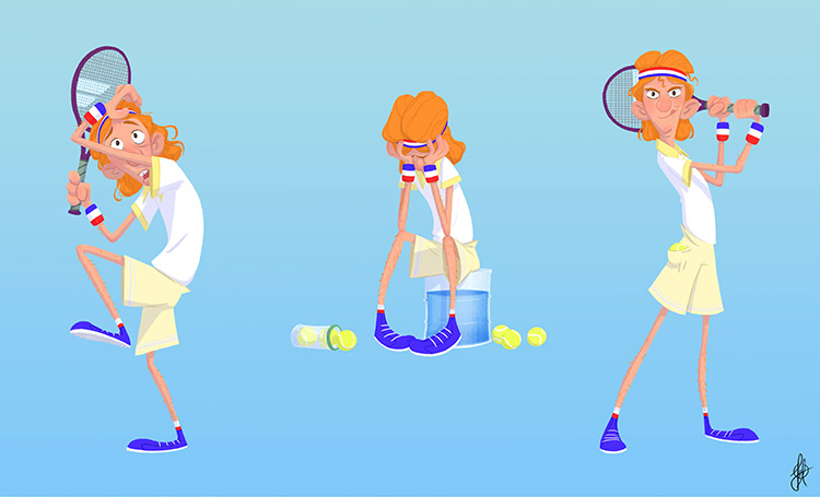 Tennis character vis dev artwork