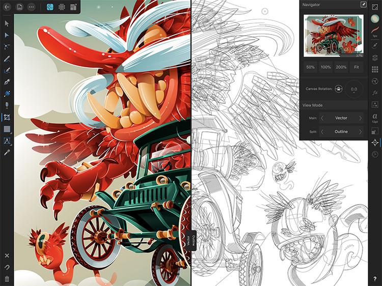 Affinity Designer app preview