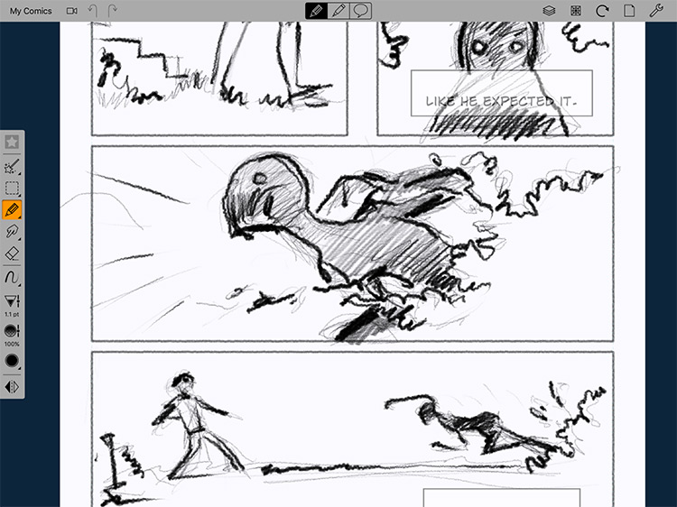 Comic Draw mobile painting app