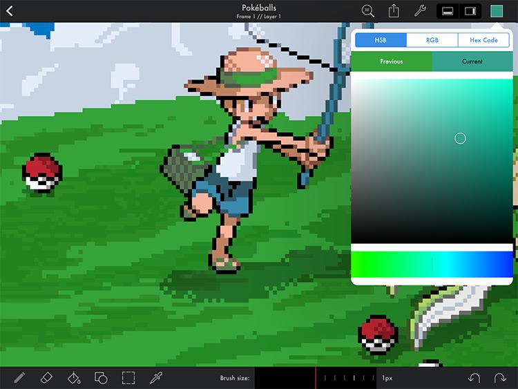 Pixaki pixel art mobile app