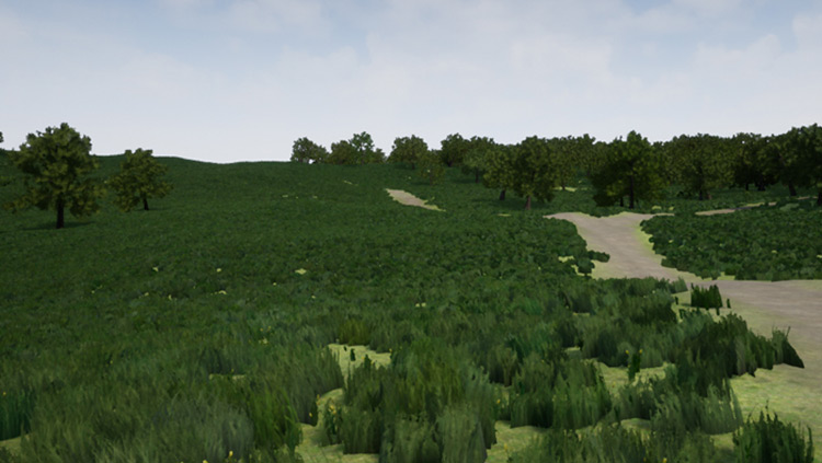 Terrain environment in 3d Unreal Engine