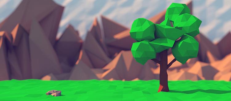Lowpoly tree 3D art