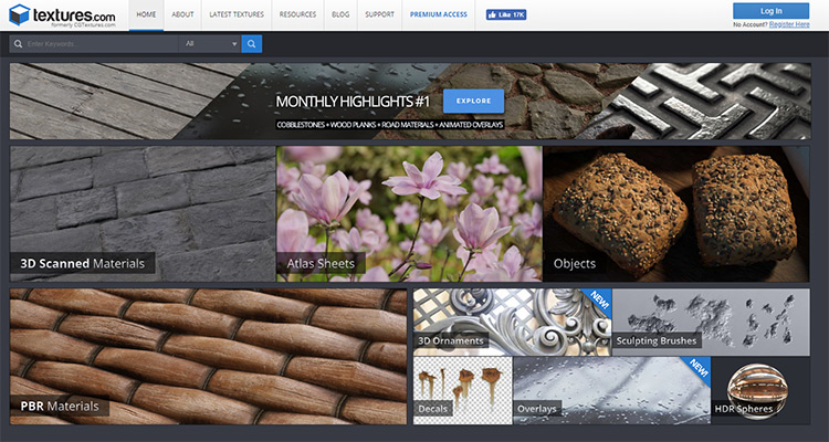 Textures.com screenshot