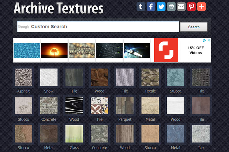 Archive Textures homepage