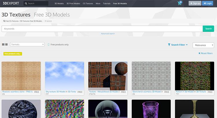 3DExport homepage