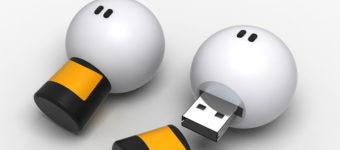 Lightbulb USB characters modeled