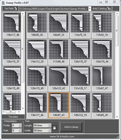 Sweep Profiler 3ds Max plugin
