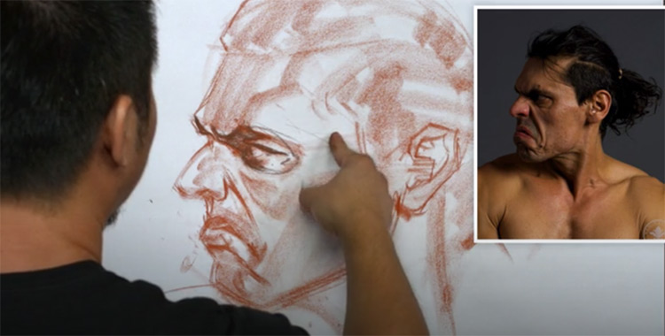 Preview of Head Drawing by Charles Hu