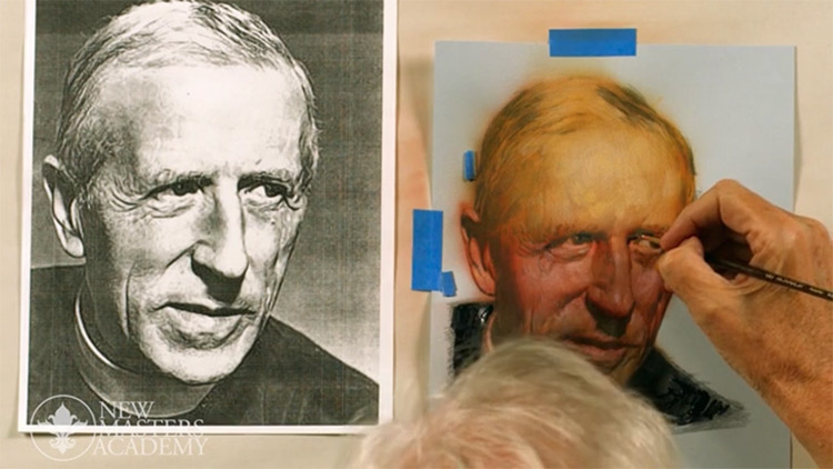 Sample portrait drawing course for New Masters Academy