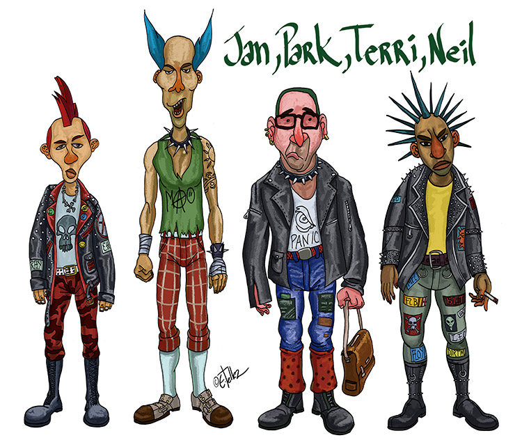 Punk rock characters