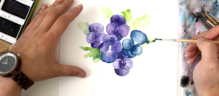 Simple watercolor painting