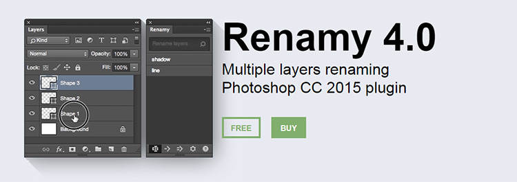 Renamy plugin for Photoshop