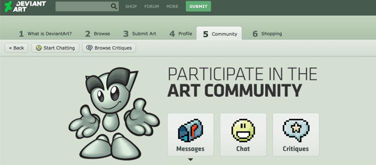DeviantArt community page