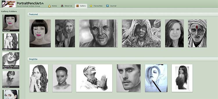 Portrait Pencil Art Group