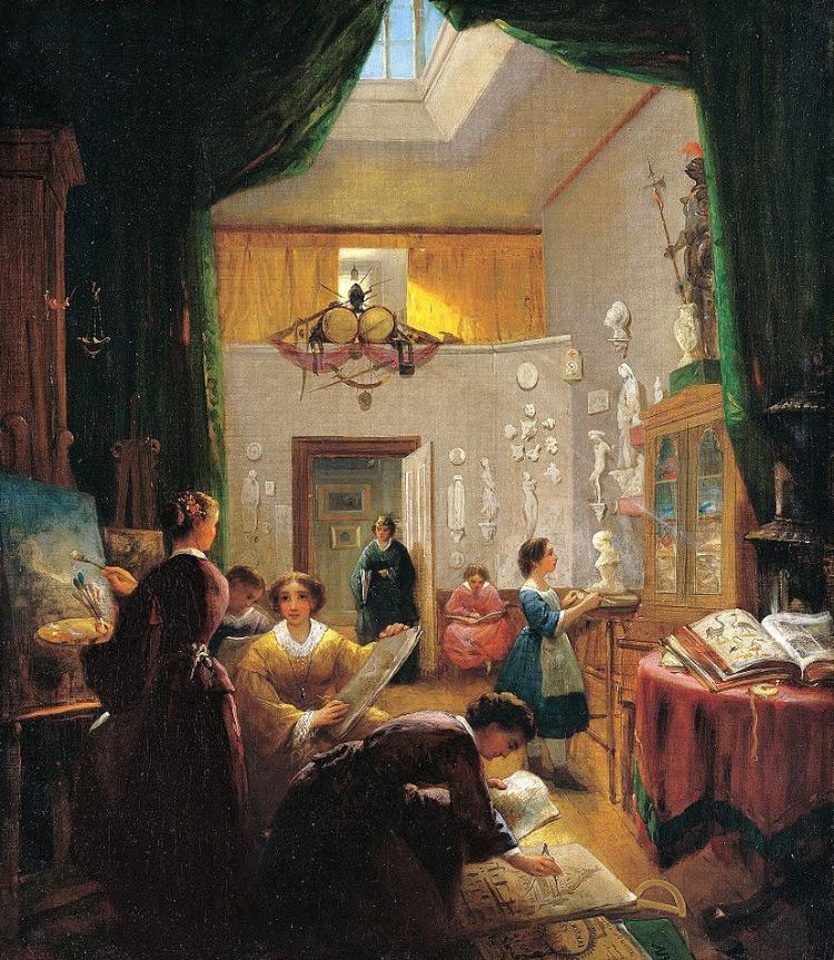 Women atelier class by Louis Lang
