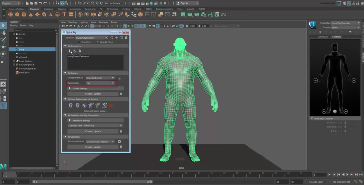 Vertices on character model