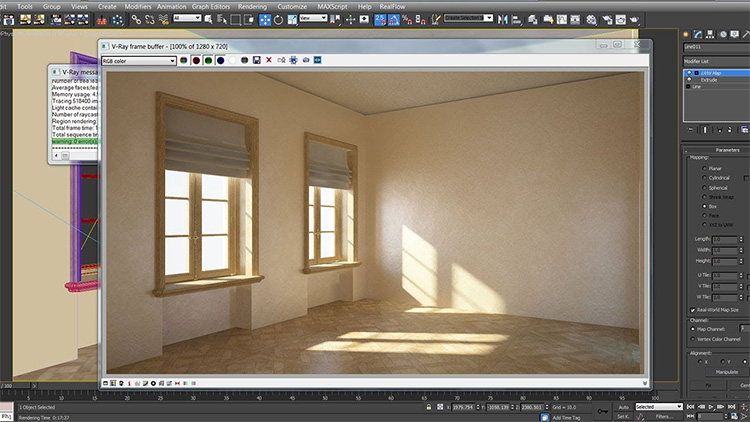Modeling, lighting rendering