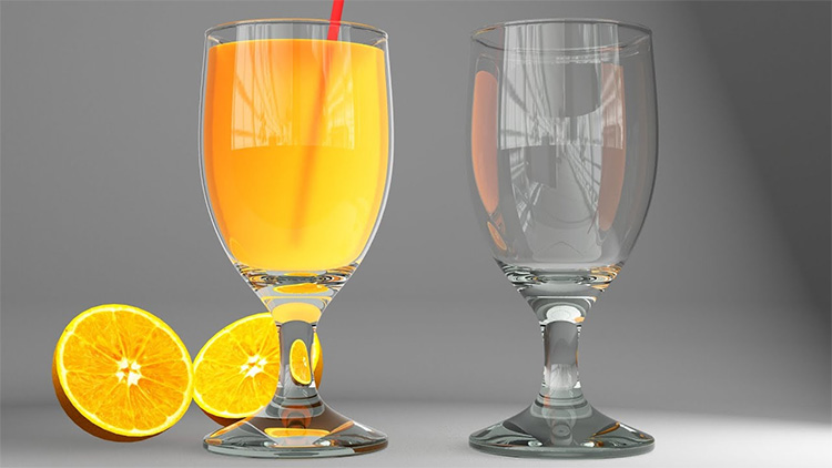 Vray glass of juice