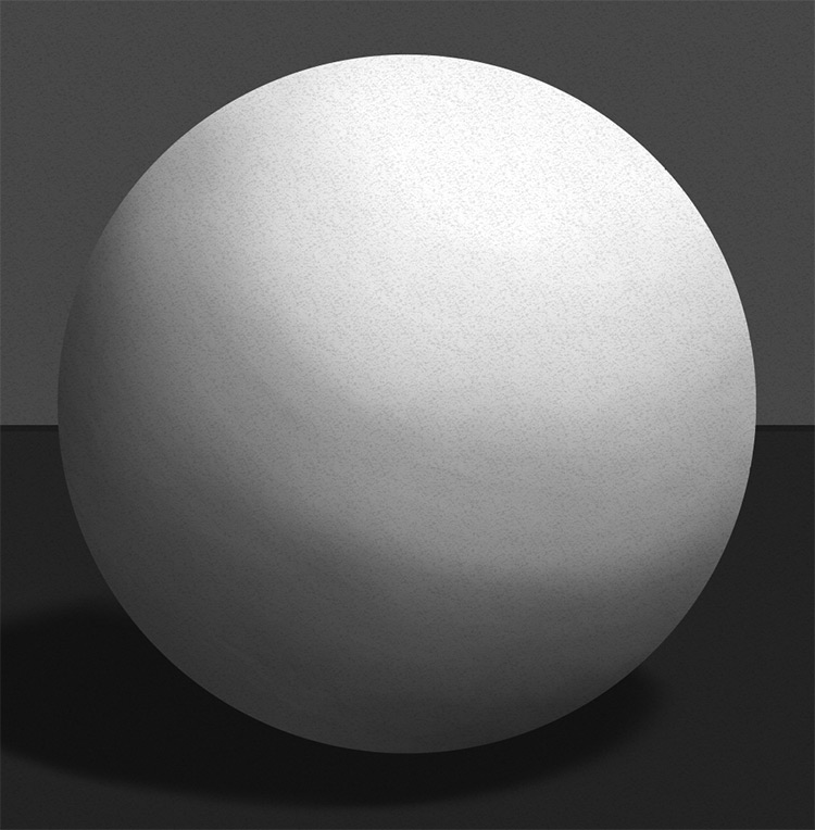 Digital drawing of a sphere