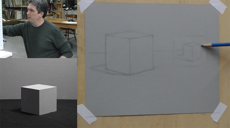 Practicing shapes cubes