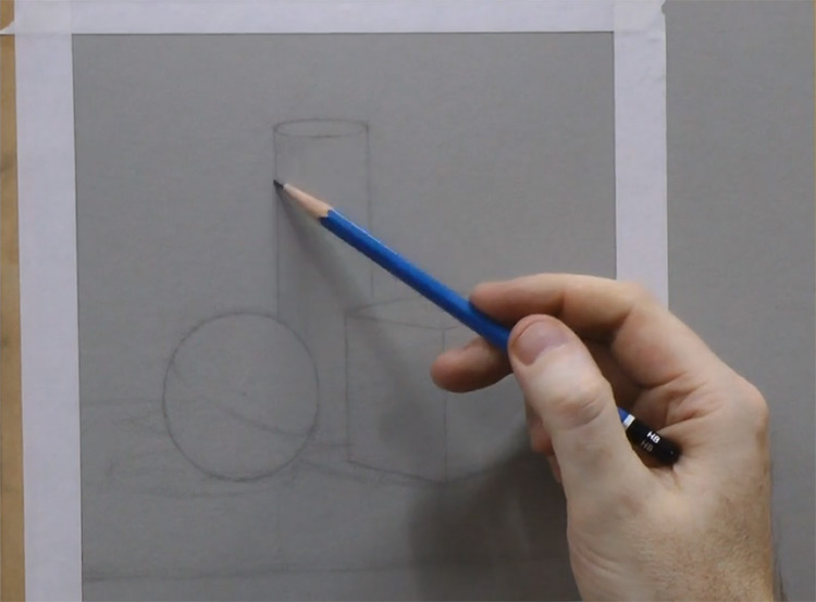 Sample of drawing shapes Vitruvian Basics course