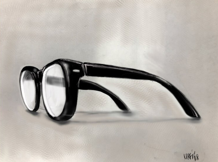 Drawing of glasses