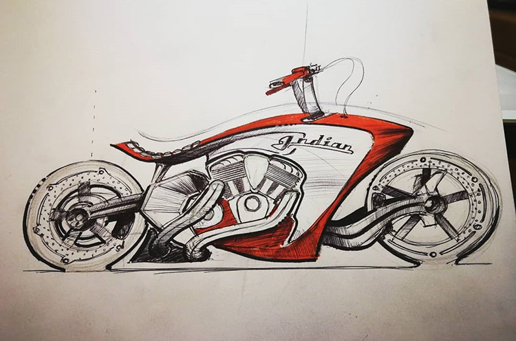 Drawing of cool motorcycle