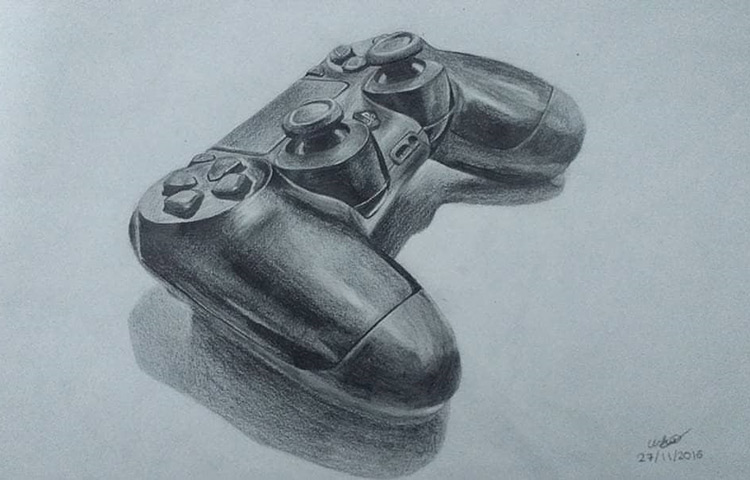 PlayStation 4 controller drawing