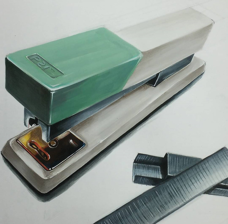 Drawing of a stapler
