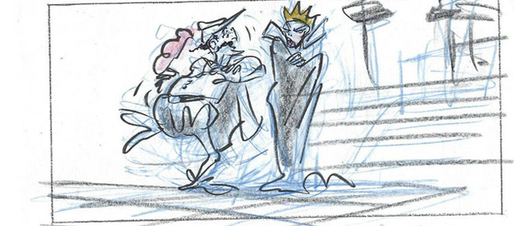 Queen Narissa - Enchanted animation storyboard
