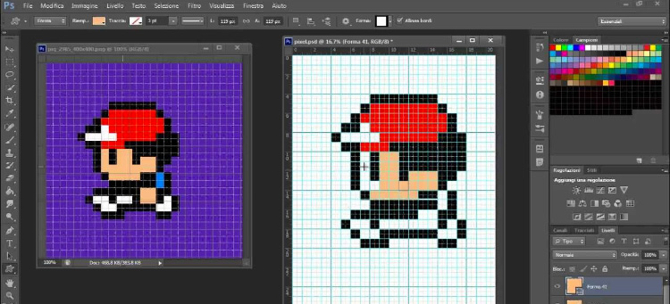 Photoshop pixel art screenshot