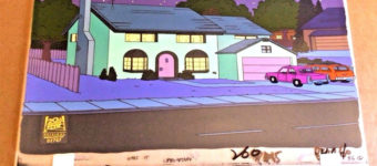 Simpsons animation cel