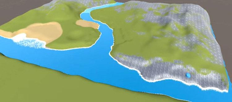 Unity example terrain procedural texture