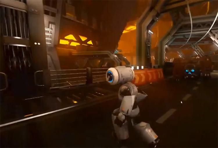 Juan Linietsky robot 3D game environment