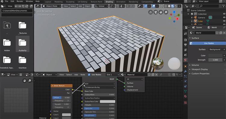 Brick pattern on procedural map