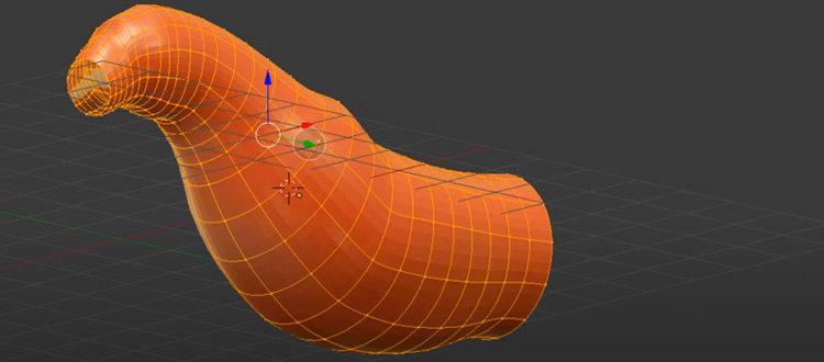 NURBS cylinder modeled object