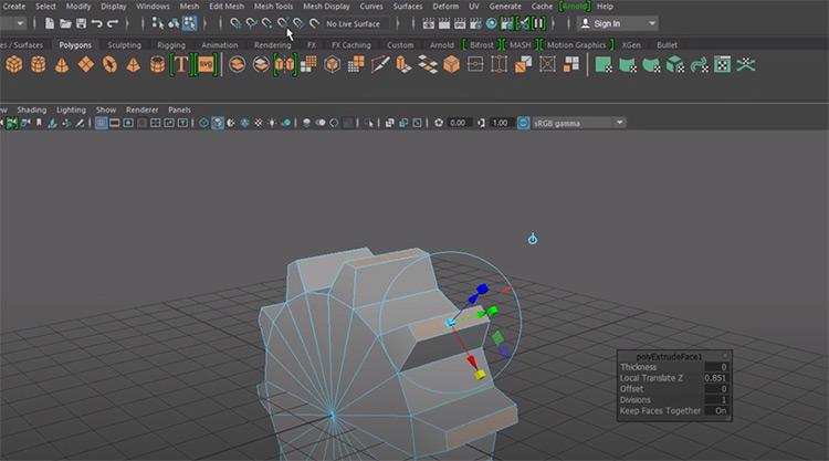Modeling a gear NURBS