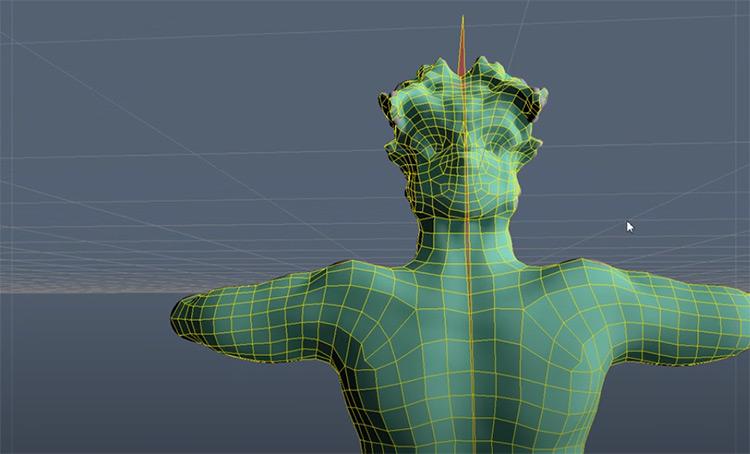 Autoretopology demonstration model