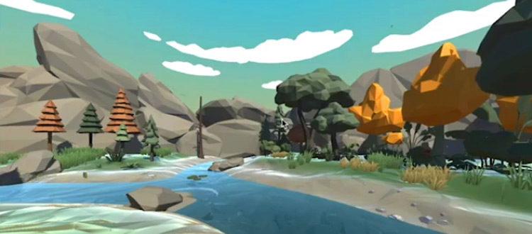 3D Forest Lowpoly landscape 3D modelled