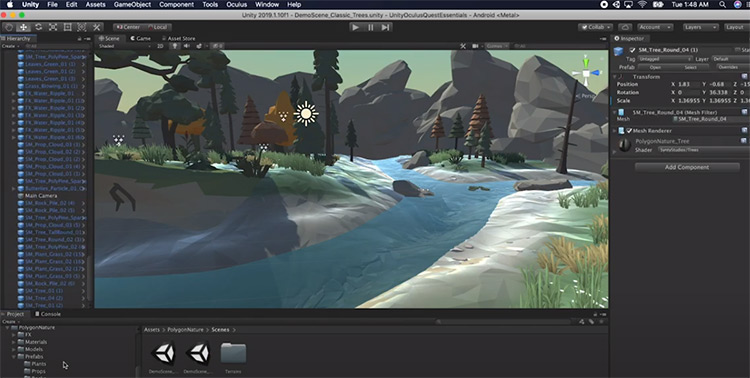 Unity3D game low poly