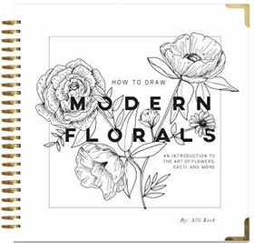 howto draw modern florals