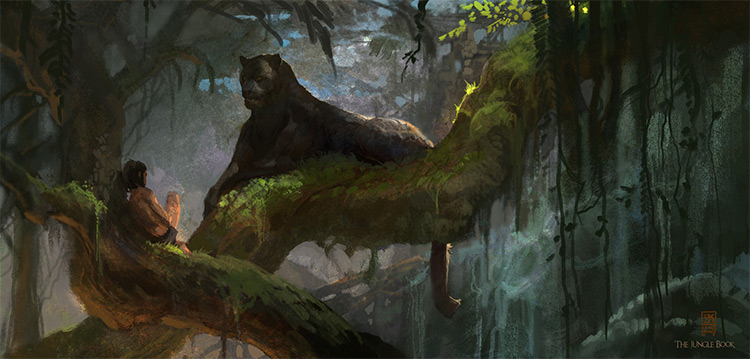 disney jungle book concept art ideas