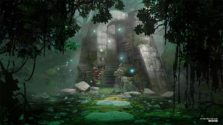 spirit temple environment concept art